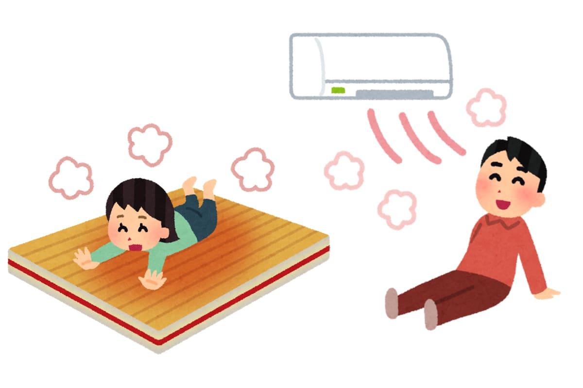 床暖房とエアコン