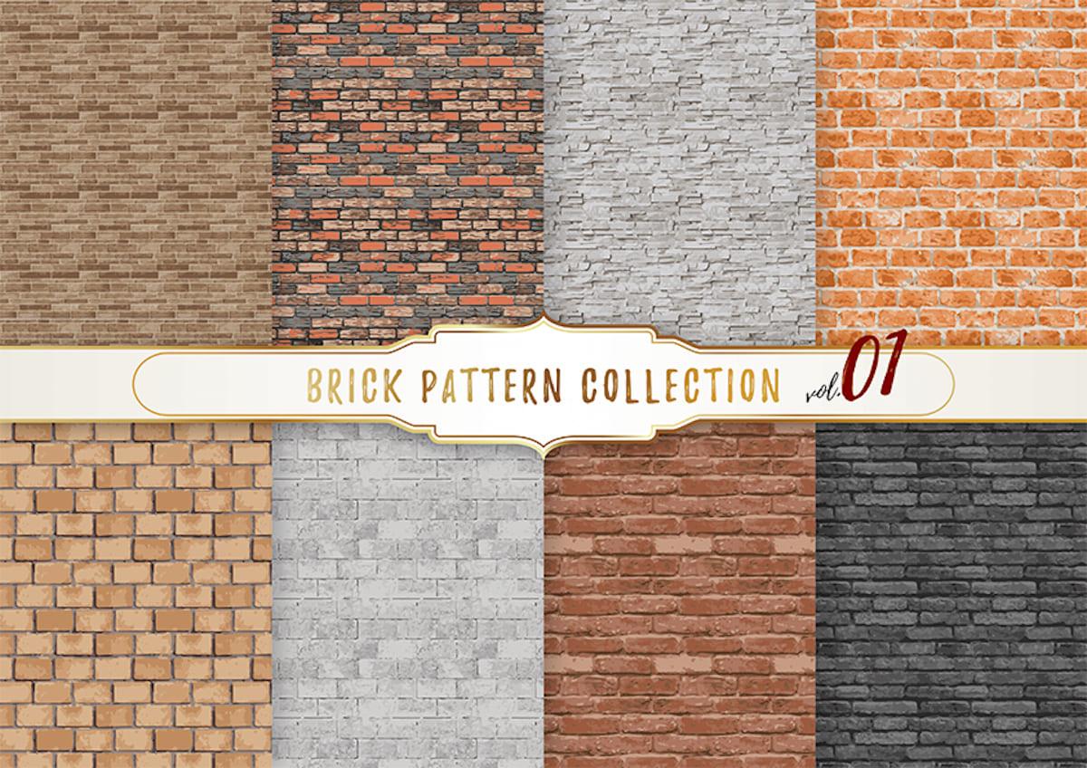 レンガの壁のパターン