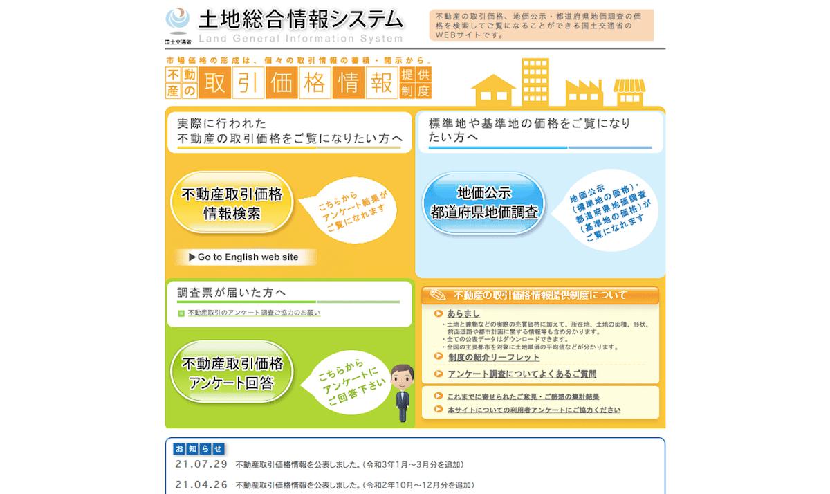 【国土交通省】土地総合情報システム