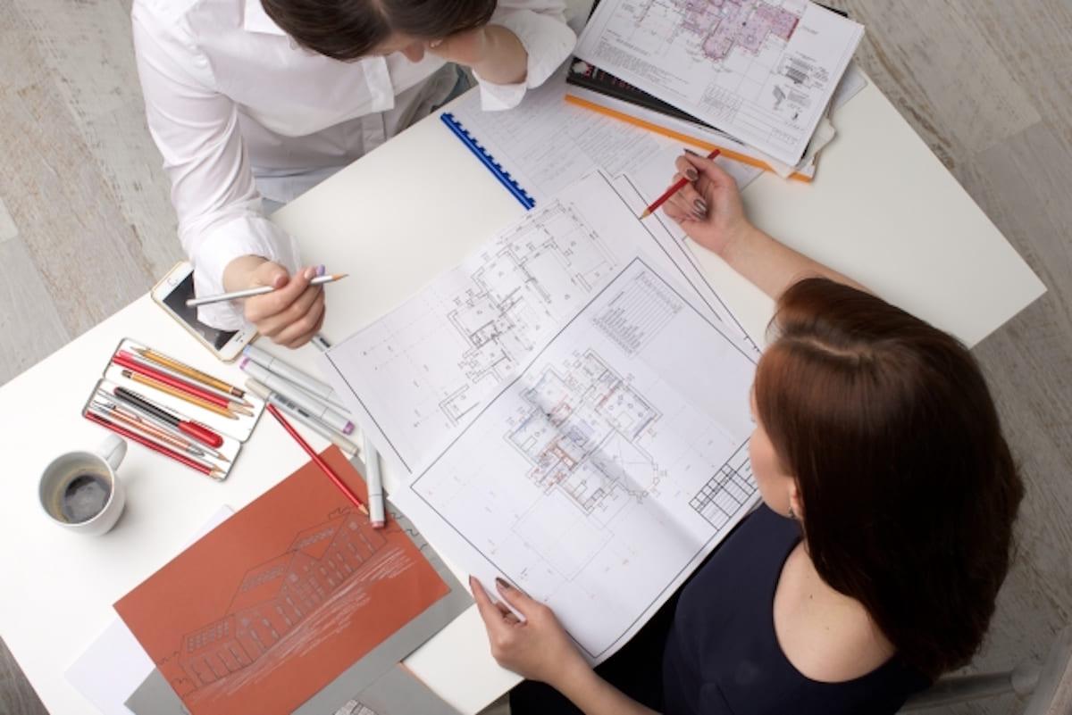 家の設計図の打ち合わせ
